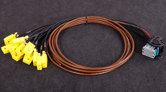 Main harness for MaxxECU PRO EGT extensions. 12 EGT TYPE-K