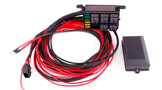 Relay and fusebox to simplify the MaxxECU flying lead installation.