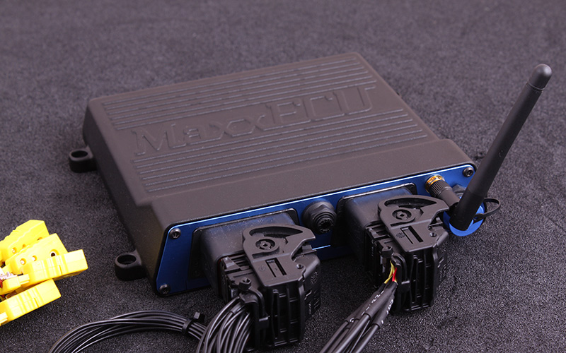 MaxxECU RACE H2O, the waterprotected unit as an option for the Audi ME 7.1 where the ECU needs to be mounted in the engine bay