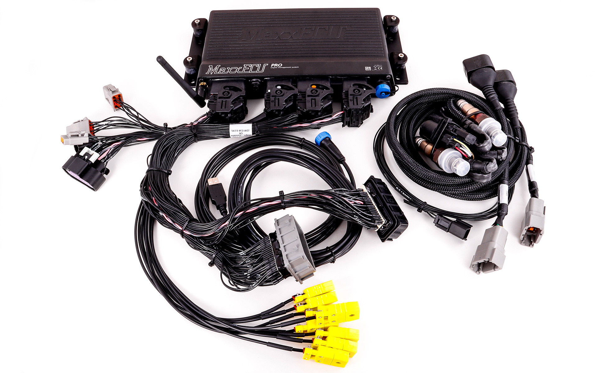 Complete MaxxECU PRO plugin kit for Corvette C6 with Bosch wideband sensors